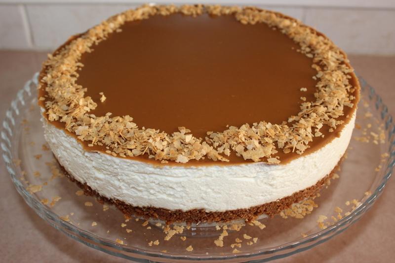 עוגת גבינה קרה בציפוי ממרח לוטוס