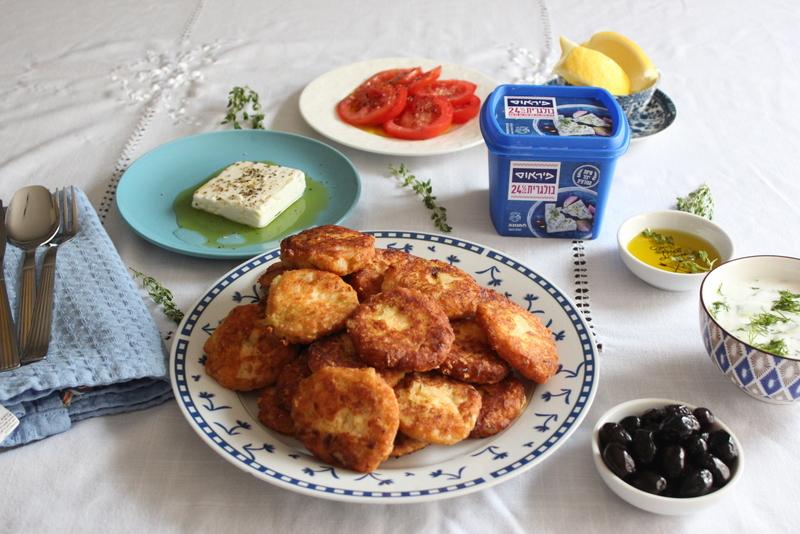 קציצות פראסה חלביות יווניות לפסח
