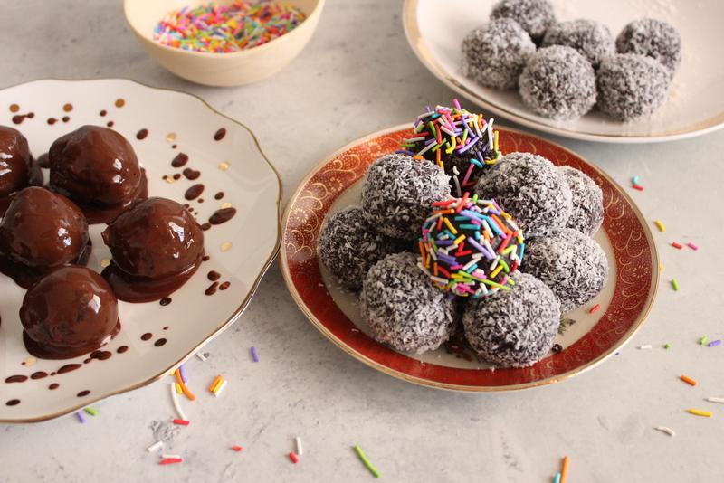 כדורי שוקולד עם עוגיות יין