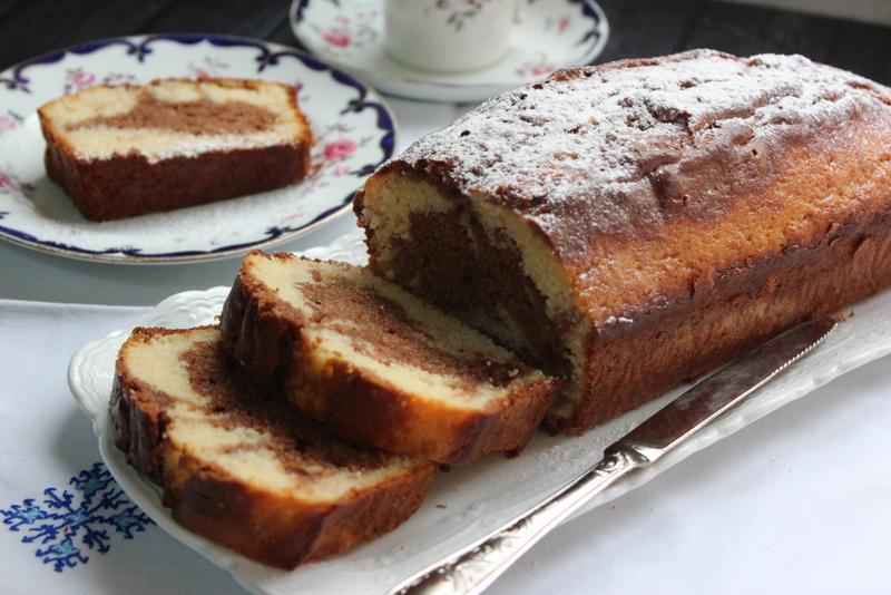 עוגה בחושה וניל קפה ושוקולד