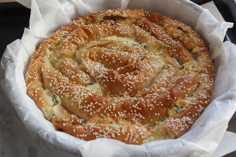 שבלול פילו עם גבינות ומנגולד